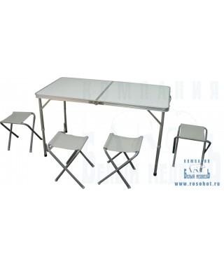 Набор Woodland Picnic Table Set, стол и стулья, 120 x 60 x 70 см (алюминий)