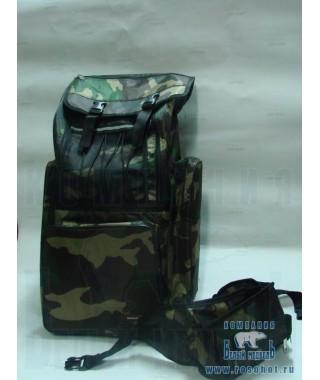 Рюкзак рыболовный SWD 70л+ сумка на пояс (кмф клас)