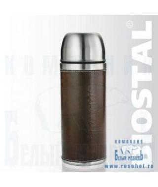 """Термос Biostal """"Охота"""" NYP-500P 0,5л (узкое горло,кож.вст.,2 пробки)"""