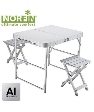 Стол складной Norfin BOREN NF алюминиевый 80x60 +2 стула набор