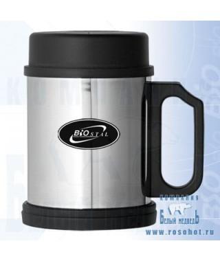 Термокружка Biostal NМ-108 B 0,33л (крышка, пластиковая ручка)