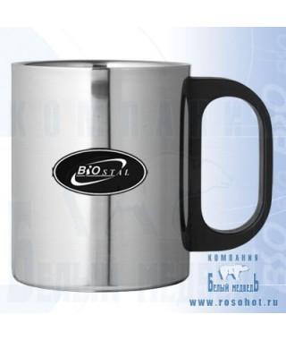 Термокружка Biostal NМ-220 В пластиков. ручка 0,22л
