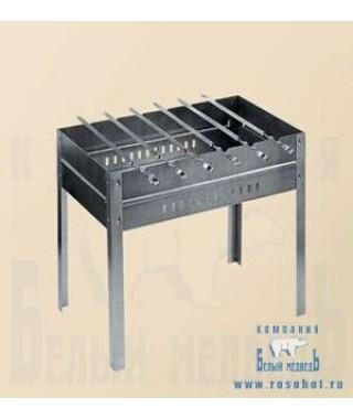 Мангал + 6 шампуров (нерж. сталь) (Тверь)
