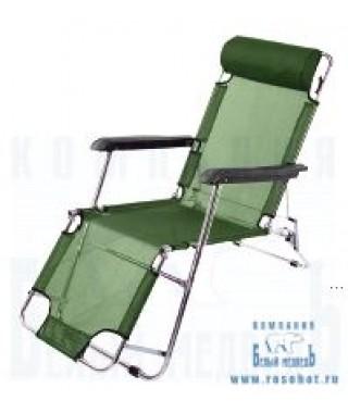 Кресло Woodland Lounger, складное, кемпинговое,  153 x 60 x 79 см (сталь)